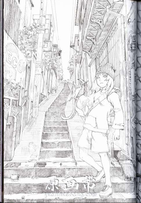 [日韩风格] 日本原画师安倍吉俊【垓層宮】插画作品集162P(含线稿)_原画素材